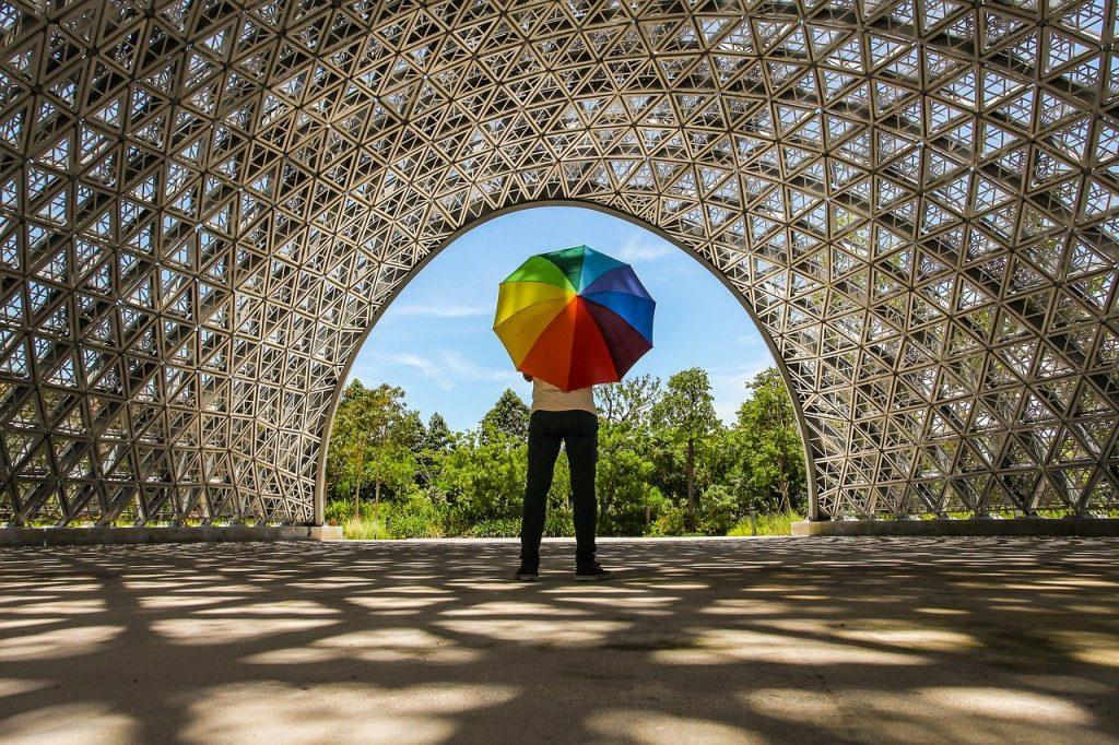 color, umbrella, art