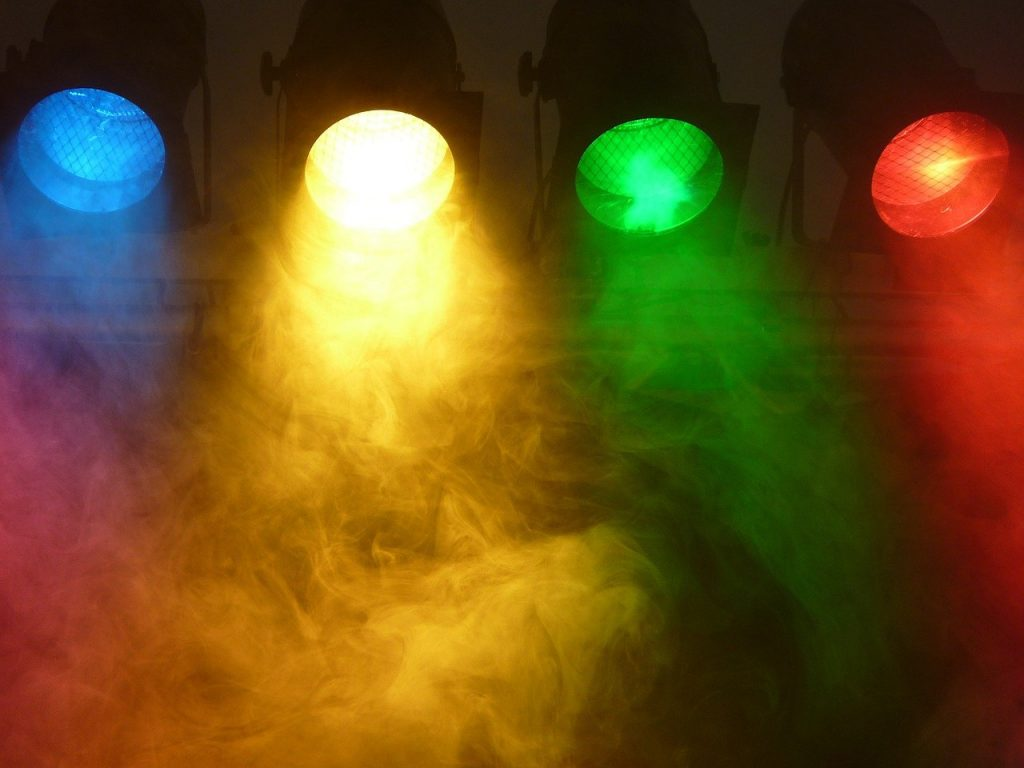 spotlight, fog, stage